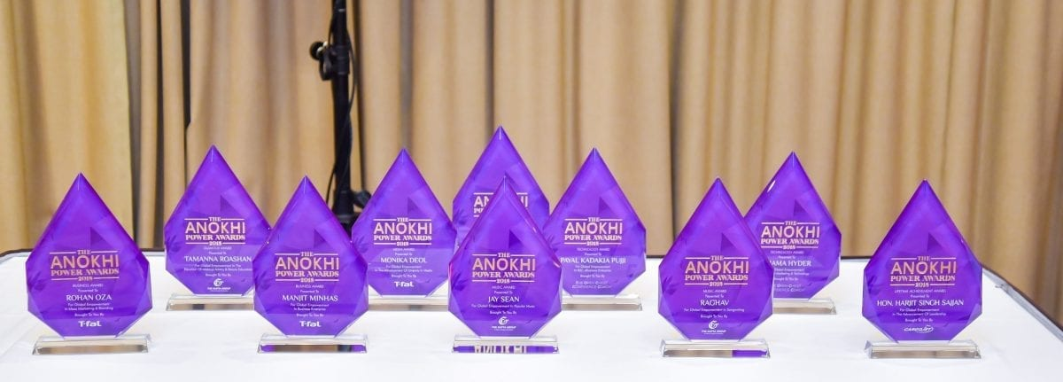 Ringing In 15 years of ANOKHI Media With An Empowering Day At The ANOKHI POWER Summit: This year's collection of The ANOKHI POWER Awards 2018. Photo Credit: www.nisargmediaproductions.com